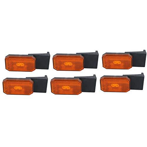 AB Tools 6 x LED Orange Orange Feux de gabarit/Caravane remorque Lampe 12V ou 24V