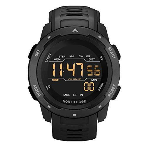 SVUZU Reloj Deportivo para Hombre, Relojes Militares Digitales Impermeables de 50 m con cronómetro de calorías para Hombres, Reloj de Pulsera de Buceo analógico multifunción LED resisten