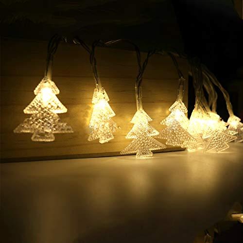Gxhong Cadena de Luces LED Arbol de Navidad con 8 Modos de Luz 3M Guirnalda Luces LED de Hadas para Cortina Decorativas, Navidad, Habitacion, Fiesta, Jardín, Interior Bodas Césped