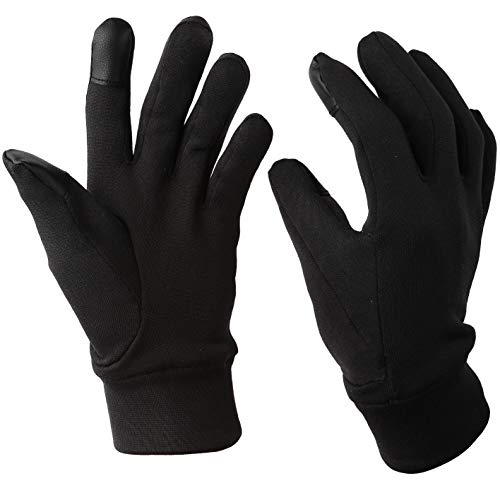 Chern Yueh Running Gloves with Touch Screen Winter Glove Liners for Texting Cycling (Small)