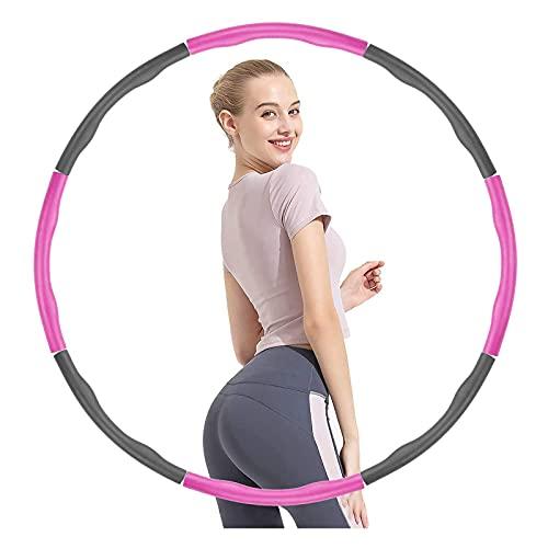 Aro de hula hoop para adultos principiantes, de espuma, extraíble, para gimnasia, culturismo, cintura fina, equipo de crossfit, 6 – 8 secciones ajustables