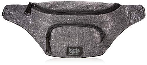 Superdry Damen Bum Bag Business Tasche, Schwarz (Black Sparkle), 37x15x10 cm