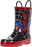Favorite Characters Boy's Spider-Man Rain Boots F20 SPF504 (Toddler/Little Kid) Black 11 Little Kid M