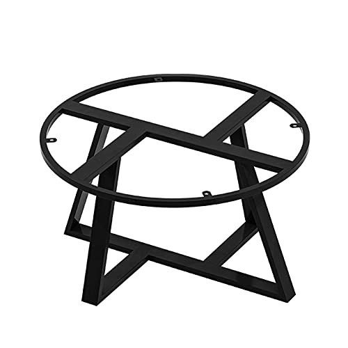 WFENG Mesa Auxiliar Redonda Patas de Metal,Para Muebles Pequeños de Bricolaje Como Escritorios Pequeños/Mesas de Centro/Mesitas de Noche/Negro / W60cm×H43cm