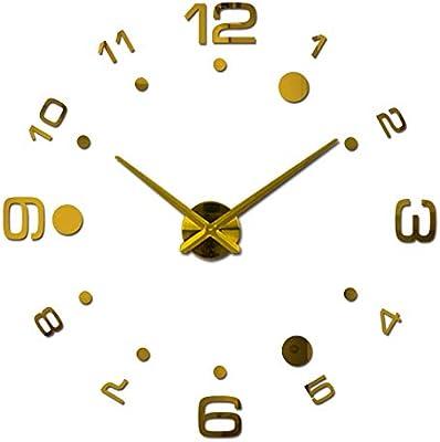 HAVIPRO hot Quartz Watch Wall Clock Acrylic Mirror DIY Clocks Reloj De Pared Horloge Murale Living