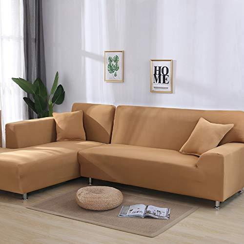PPOS L Form Shape Protector Massive Ecksofabezüge für Wohnzimmer Elastische Schonbezüge Couchbezug Stretch Sofa Handtuch A3 1seat 90-140cm-1pc