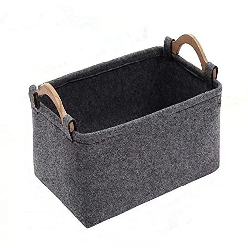 Caja de almacenamiento no tejida para clasificar y clasificar, cesta de almacenamiento de fieltro