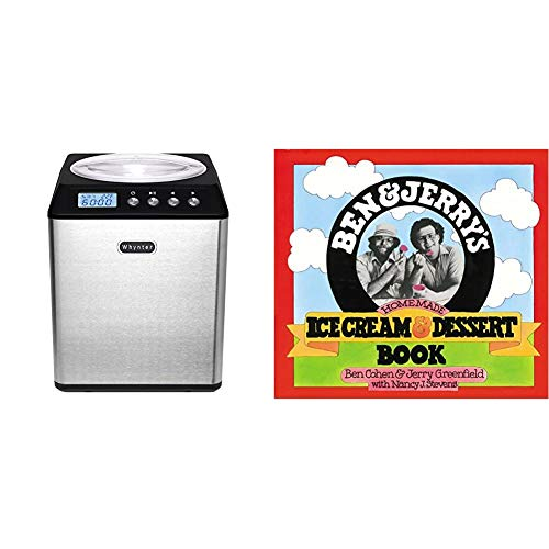Whynter ICM-201SB Upright Automatic Ice Cream Maker 2 Quart Capacity Built-in Compressor, Stainless Steel Mixing Bowl, 2.1 & Ben & Jerry