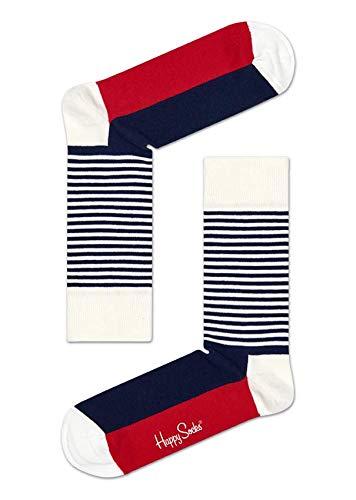 Happy Socks Hssh01 - Chaussettes - Mixte - Bleu (68) - 36-40 (Taille fabricant: 36-40)