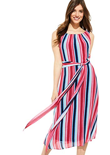 comma Damen 81.905.82.4969 Kleid, Mehrfarbig (62s1 Watercolor Stripe 62s1), (Herstellergröße: 42)