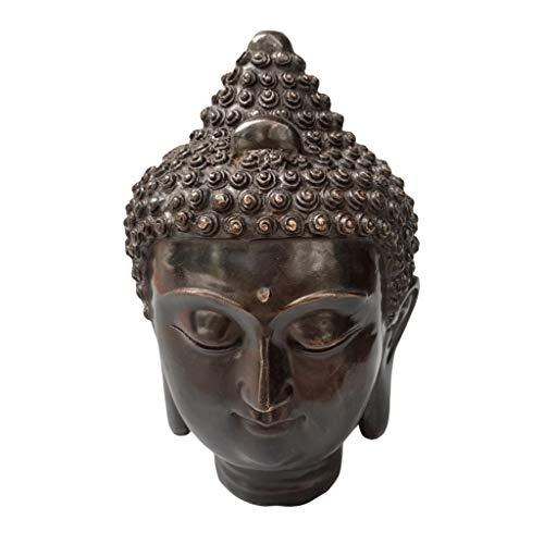 Escultura de Buda 8.6En La Escultura del Busto Meditando la