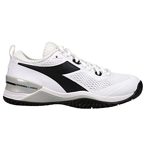 Diadora Speed Blushield 4 Womens Tennis Shoe (9.5) White/Black