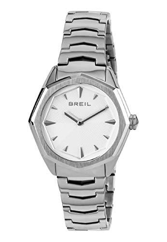 Breil Reloj Analógico para Mujer de Cuarzo con Correa en Acero Inoxidable TW1700