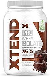 XTEND Pro Protein Powder Chocolate Lava Cake   100% Whey Protein Isolate   Keto Friendly + 7g BCAAs