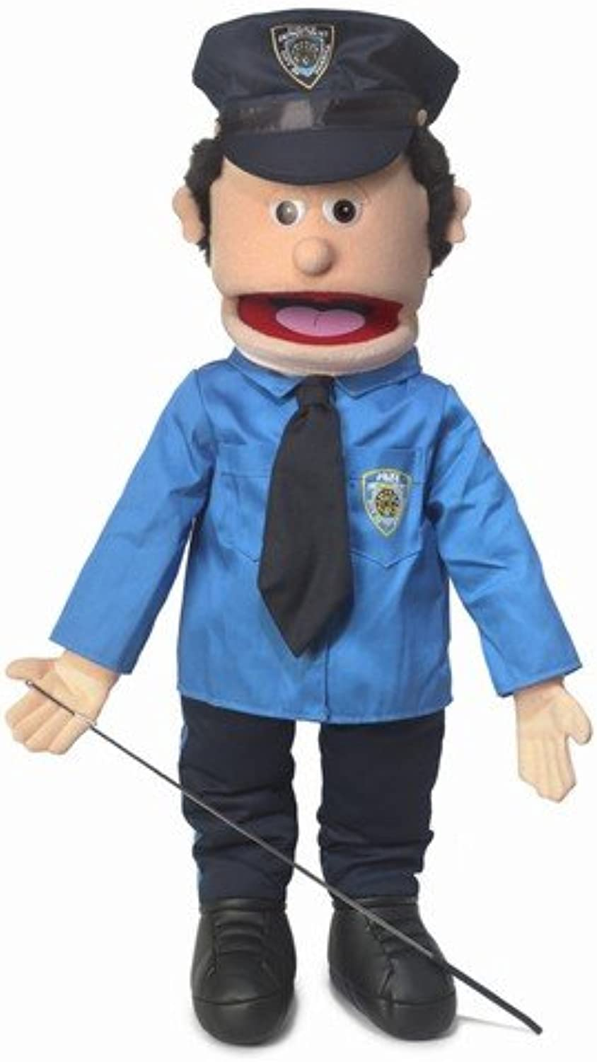 25  Policeman, Peach Male, Full Body, Ventriloquist Style Puppet