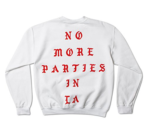 AA Apparel Life of Pablo No More Parties In La Los Angeles Pop Up Crewneck Kanye Yeezy TLOP Yeezus Saint,White,large