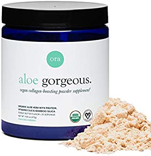 Sponsored Ad - Ora Organic Vegan Collagen-Boosting Powder for Women and Men - Hair, Skin, & Nails Support - Bamboo Silica,...
