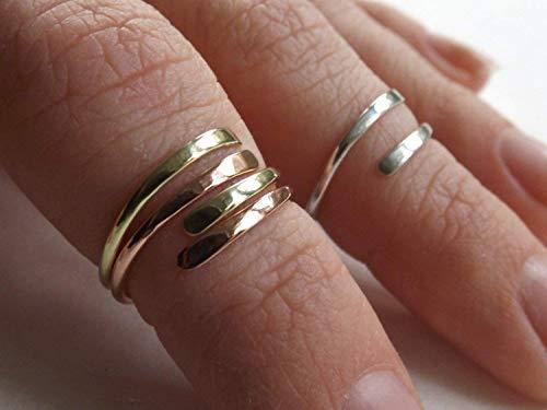 Rings,Sterling Silver Knuckle Ring Toe Rings Knuckle Ring,Knuckle Rings,Stacking Rings,above knuckle ring,Tri Tone Knuckle Rings