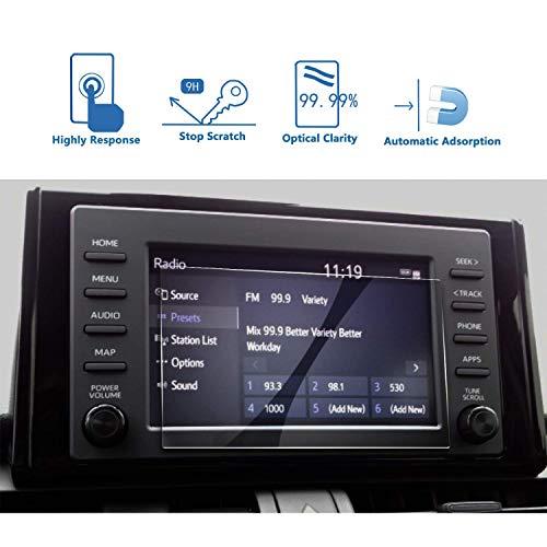 LFOTPP Auto 7 inch navigatie glas beschermfolie voor Toyota RAV4 5-9H krasbestendig pantserglas displaybeschermfolie (7 inches)