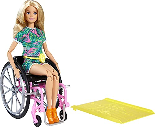 Barbie Fashionista Loira com Cadeira de Rodas