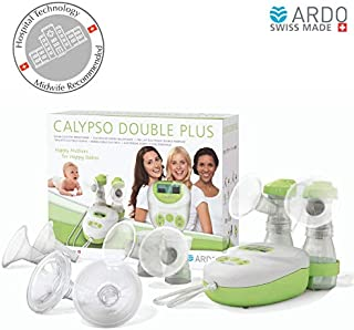 Ardo - Calypso Double Plus Breast Pump, ultra-silent hospital-technology pump, plug-in adapter and battery operated, Swiss Made