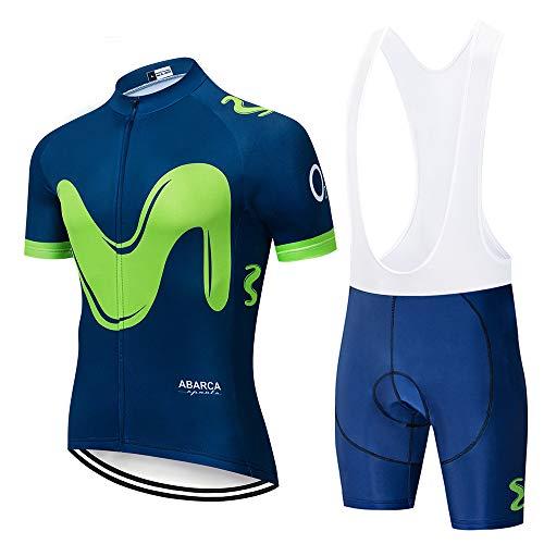 Maillot Ciclismo Manga Corta, Secado Rápido Ropa Ciclista Verano con Pantalon Ciclismo, MTB