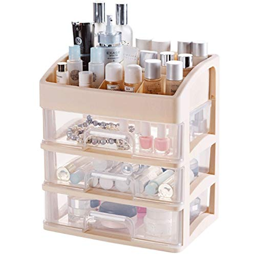 Fuerte y hermoso Cuidado caja de maquillaje de escritorio clasificación caja del cajón de la cara Crema labial lápiz de ceja de la piel Producto Caja de almacenamiento Caja de almacenamiento compartid