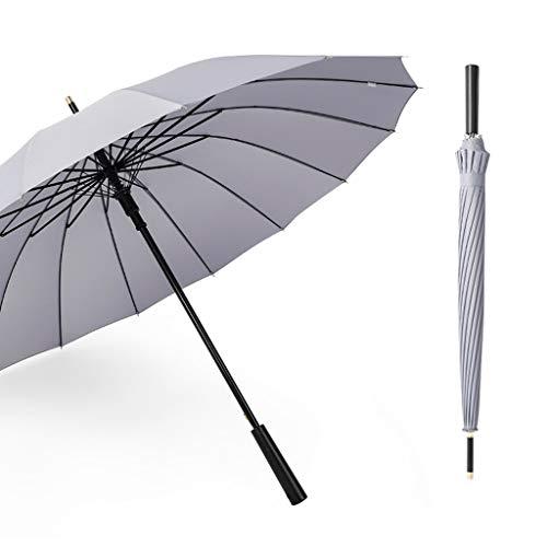 GFYS1201 Zakparaplu golfscherm winddicht voor heren en dames wandelstok paraplu groot 37 inch, automatisch open voor 2 personen met 16 ribben