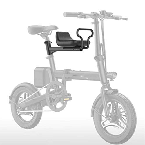 Enwebalay Asiento Delantero Bicicleta Eléctrica,Asiento Bici Niños Portátil,con Reposabrazos Pedales Seguridad, Cojines...