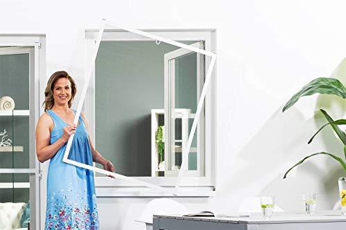 empasa Insektenschutz Fliegengitter Fenster Alurahmen Master Slim matte Optik weiß oder anthrazit in verschiedenen Größen als Selbstbausatz