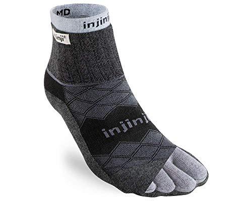 Injinji Liner+Runner MiniCrew Coolmax Black Teensokken