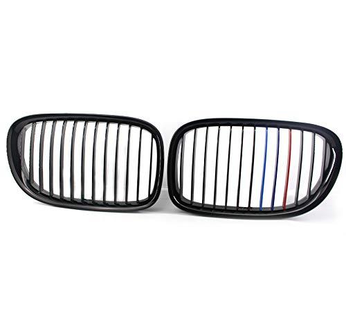 ZYCJNB Parrilla de riñón de Carreras, Estilo M Estilo de Abeto Frontal Negro Brillante para 2009-15 BMW F01 F02 740i 760i