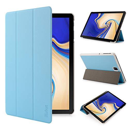 iHarbort Samsung Galaxy Tab S4 10.5 Zoll Hülle Cover (2018 veröffentlicht SM-T830 / T835) - Ultra dünn Hülle Etui Schutzhülle Hülle Holder Stand mit Smart Auto Wake/Sleep Funktion, hellblau
