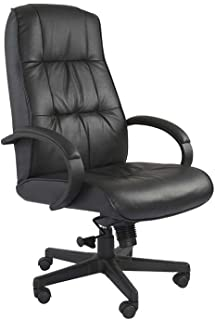 Mahmayi Atvor 708 High Back PU Leather Ergonomic Chair Computer Chair with Thick Padded Armrest & Lumbar Support for Home...