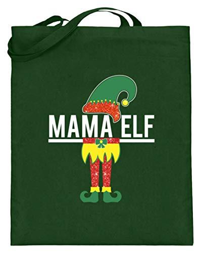 Mama Elf – Mutti, genitori, elfo, elfo, spirito naturale, saggezza, fiabe, albo, elfo – Sacchetto di iuta (con manici lunghi), Verde (verde), 38cm-42cm