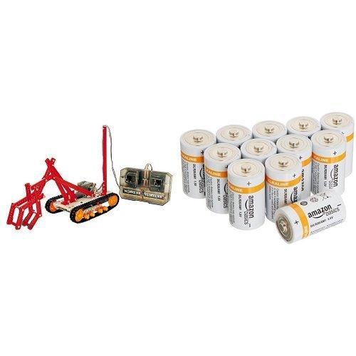 【セット商品】タミヤ 楽しい工作シリーズ No.1 (70 リモコンロボット製作 クローラータイプ (701 (70) + Amazonベーシック 単1型アルカリ乾電池 12個パック