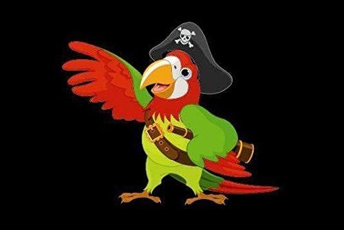 U24 Fahne Flagge Piraten Papagei Bootsflagge Premiumqualität 30 x 45 cm