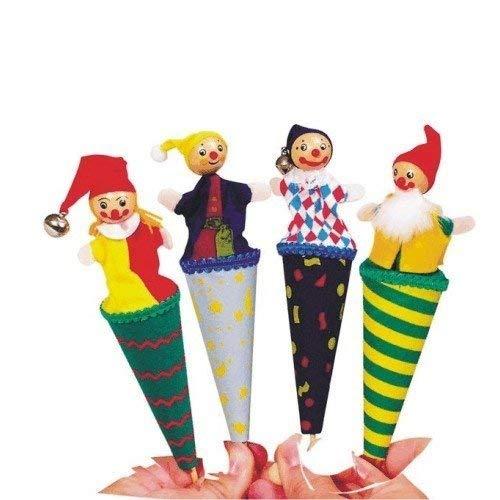 Goki Mini juguete tradicional para niños con cono de dedo emergente