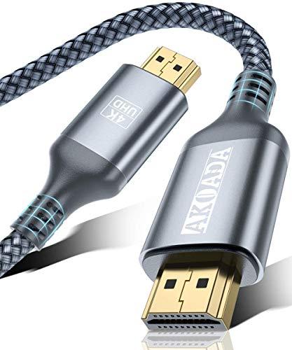 Cable HDMI 4K 3m, AkoaDa Cable HDMI 2.0 de Nylon Trenzado de
