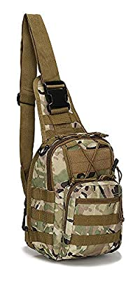 FAMI Outdoor Tactical Bag Backpack, Military Sport Bag Pack Sling Shoulder Backpack Tactical Satchel for Every Day Carry