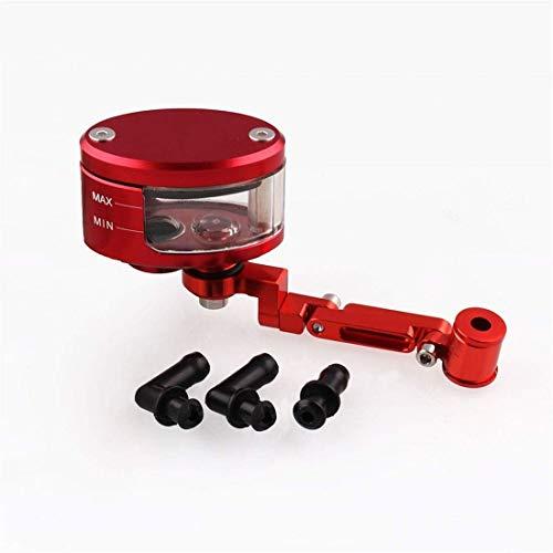 Motorrad-Hauptbremszylinder Grube Fahrrad Modifiziertes Motorrad vorne Bremsflüssigkeitsbehälter Behälter Oil Cup + Halter Z autohalterung (Color : Red)