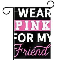 ガーデンフラッグ縦型両面 12x18inch 庭の屋外装飾.友達のためにピンクを着る