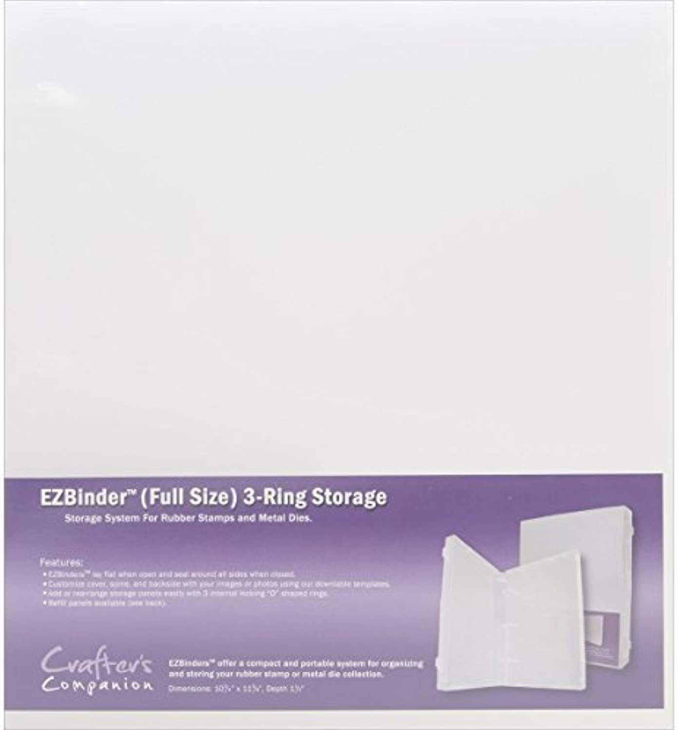 Crafter's Companion The Ultimate  EZ Mount Stamp Storage Binder  3Ring  Clear by Crafter's Companion