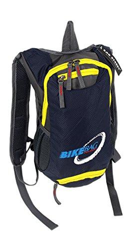 4068, zaino da bici per trekking, attività sportive e all'aperto, molto leggero e pratico, disponibile in 2colori, imbottito, con lucchetto di sicurezza in aggiunta, blau