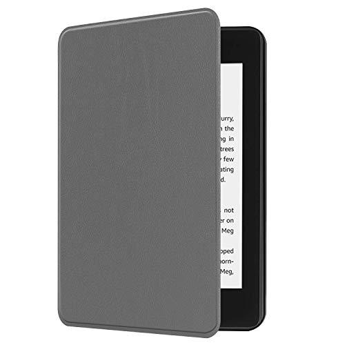 NEW-Kindle Paperwhite第十世代ケース/カバー 2018キンドルペーパーホワイト専用ケース 2018 Kindle Paperwhite Newモデル(第10世代)に適応 オートスリープ機能付き (グレー)