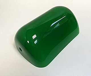 Lámpara de cristal para lámpara de banquero, pantalla de repuesto, cristal de banquero, pantalla, pantalla de vidrio, vidrio de repuesto para estilo Bauhaus, lámpara de mesa de casa rural en verde.