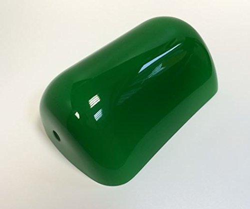 Lampenglas für Banker Lampe, Ersatzschirm, Bankers-Glas,Schirm,Glas,Glasschirm, Lampenschirm,Ersatzglas für Bauhaus Stil,Landhaus Tischlampe Leuchte in grün