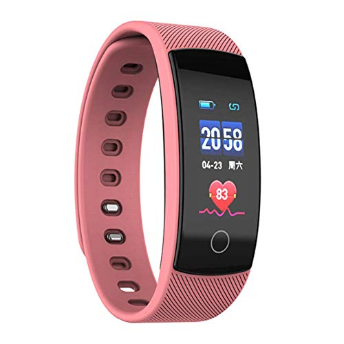 LJQ Smart Fitness Bracelet-Multi-Function Sports Activity Tracker, Incluido podómetro, Monitor de frecuencia cardíaca, Registrador de sueño, recordatorio sedentario, etc, Impermeable, iOS/Android