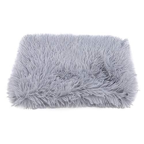 Hengxing Fluffy Pet Blanket Couverture de Jet de Couverture de Chat Doux et Chaud d'hiver,Gris Clair,S