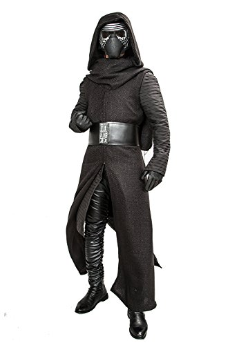 Xcoser Kylo Ren Cosplay Robe & Under Tunic & Gloves & Scarf & Belt Outfit Costume 3XL Black